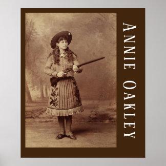 Poster Affiche de tireur d'élite d'Annie Oakley