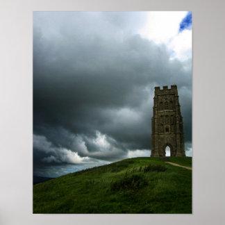Poster Affiche de tour de l'Angleterre de massif de roche