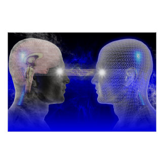 Poster Affiche de transfert de cerveau