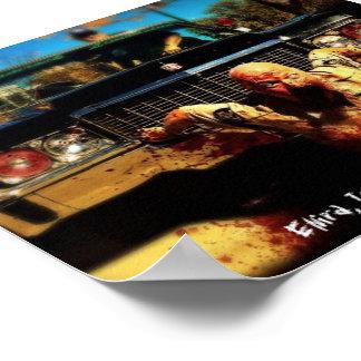 Poster Affiche de tueur de zombi