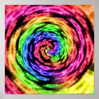 Poster Affiche de vortex d'étoile d'arc-en-ciel