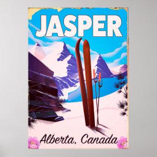 Poster Affiche de voyage d'Alberta Canada de jaspe