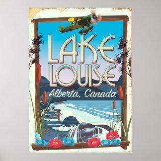 Poster Affiche de voyage de Lake Louise, Alberta Canada