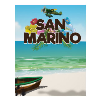 Poster Affiche de voyage de plage du Saint-Marin