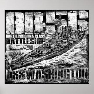 Poster Affiche de Washington de cuirassé