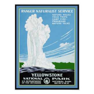 Poster Affiche de Yellowstone