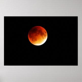Poster Affiche d'éclipse de lune