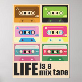 Affiche d'enregistreur à cassettes de bande de