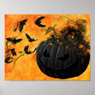 Poster Affiche déplaisante de Halloween de citrouille