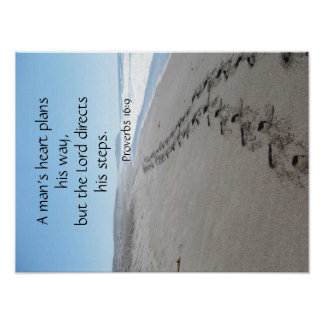 Poster Affiche d'étapes bénie par 16:9 de proverbes