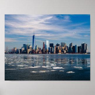 Poster Affiche d'horizon de New York Manhattan