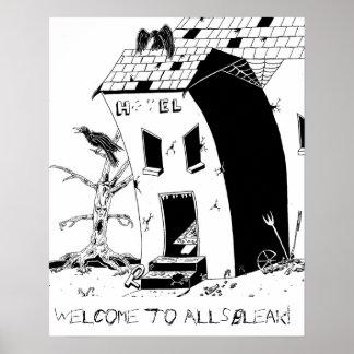 Poster Affiche d'hôtel d'Allsbleak