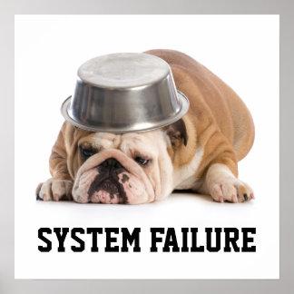 Poster Affiche d'humour de défaillance du système