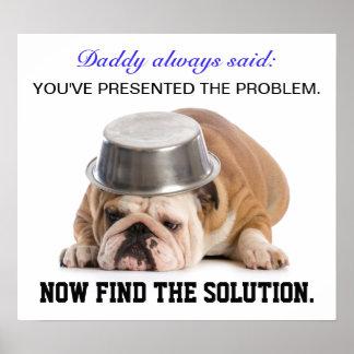Poster Affiche d'humour de résolution des problèmes