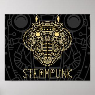 Poster Affiche d'icône de symbole de vapeur