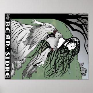 Poster Affiche d'illustration d'imaginaire de dame