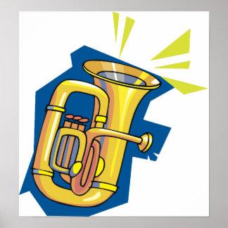 Poster Affiche d'instrument de tuba