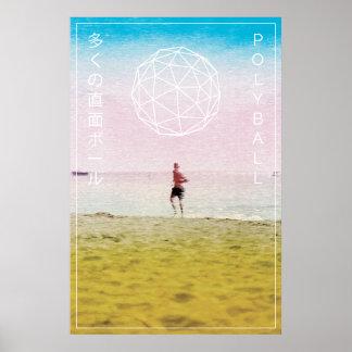 Poster Affiche d'International de plage de Polyball