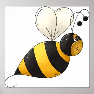 Poster Affiche dodue d'abeille