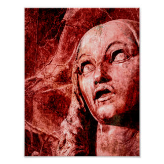 Poster Affiche d'Ophélie de folie (Seies) (Hamlet)
