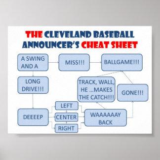 Poster Affiche d'organigramme d'annonceur de base-ball de