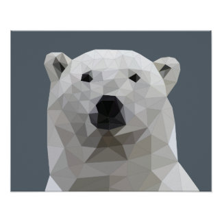 Poster Affiche d'ours blanc