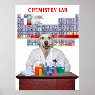 Poster Affiche drôle de chimie de laboratoire pour des