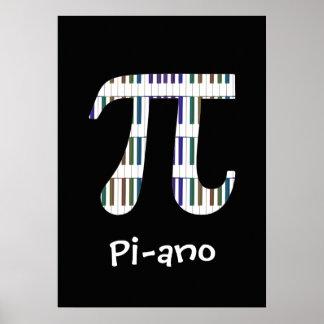 Poster Affiche drôle de geek de musique de maths de ~ de