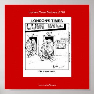 Poster Affiche drôle de Rick Londres de bande dessinée de