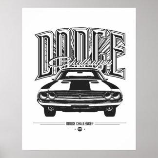 Poster Affiche du challengeur | de Dodge