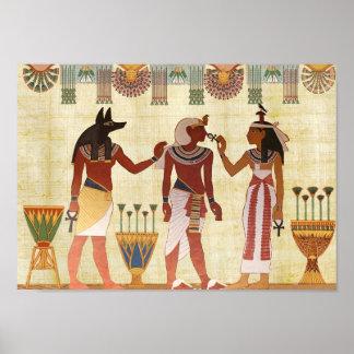 Poster Affiche égyptienne antique de la mort