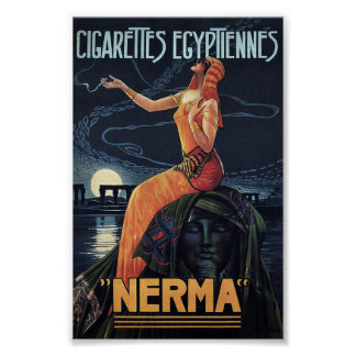 Poster Affiche égyptienne de cigarettes de Nerma