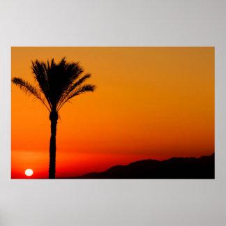 Poster Affiche égyptienne de coucher du soleil