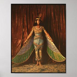 Poster Affiche égyptienne vintage de costume de danse