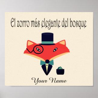 Poster Affiche élégante de langue espagnole de Fox
