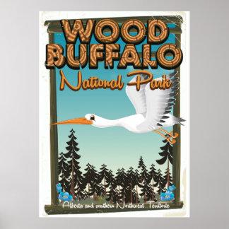 Poster Affiche en bois de voyage de parc national de