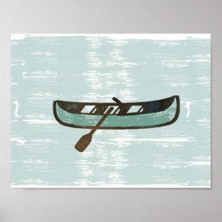 Poster Affiche en bon état de pêche allée de bateau de