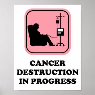 Poster Affiche en cours de destruction de Cancer