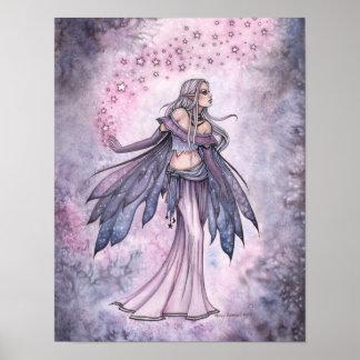 Poster Affiche féerique pourpre capturée d'art de ciel