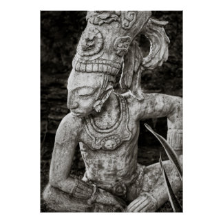 Poster Affiche - figure maya antique - le Mexique