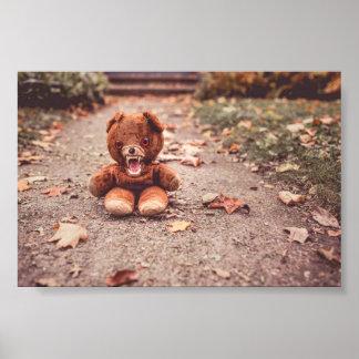 Poster Affiche folle d'ours de nounours