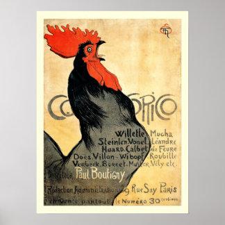 Poster Affiche française vintage de Cocorico