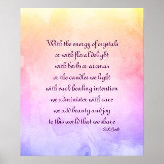 Poster Affiche holistique d'art de poème