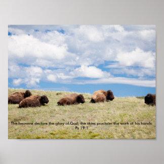 Poster Affiche inspirée de Buffalo/bison