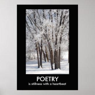 Poster Affiche inspirée de photo de nature de POÉSIE