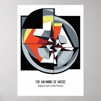 Poster Affiche - la signification de la musique