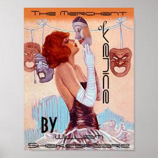 Poster Affiche le négociant de Venise William Shakespeare