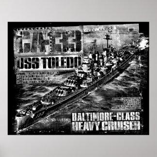 Poster Affiche lourde de Toledo de croiseur