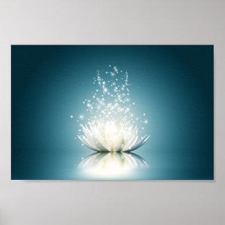 Poster Affiche magique blanche de Lotus mini