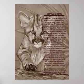 Poster affiche mignonne d'art de poème de faune de chaton